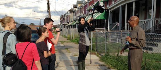 Students film Trenton resident