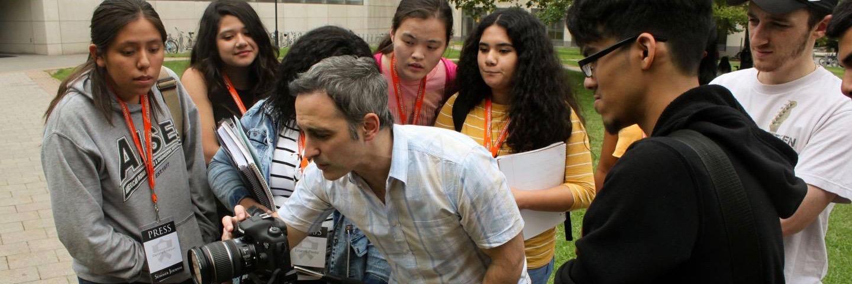 Students in summer journalism program for high schoolers